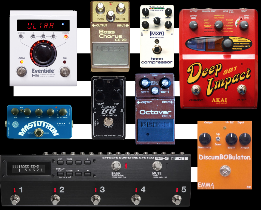 Dream Bass Guitar Pedal Board